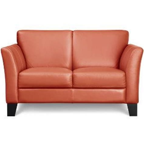 orange leather loveseat orange leather loveseat furniture pinterest