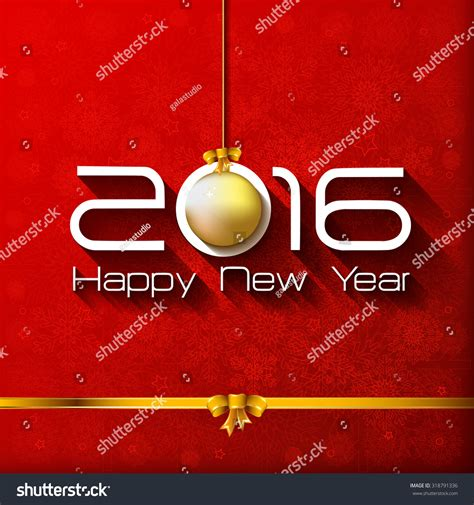 happy new year gift card 2016 happy new year gift greeting card with gold