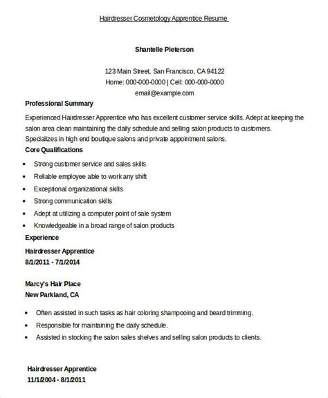 Hairdresser Apprentice Cover Letter by Sweet Cosmetology Resume Sles Shining Resume Templates For Cosmetologist Cosmetologist