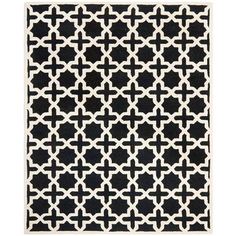 Safavieh Cambridge Black Area Rug Safavieh Cambridge Black Ivory 9 Ft X 12 Ft Area Rug