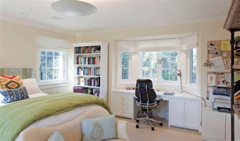 desk in front of window bed desk combos save space and add interest to small rooms