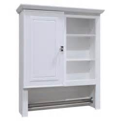 In w x 29 in h x 7 66 in d white particleboard bathroom wall cabinet