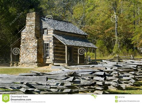Great Smoky Mountains Log Cabin Log Cabin Cades Cove Great Smoky Mountains Park Stock