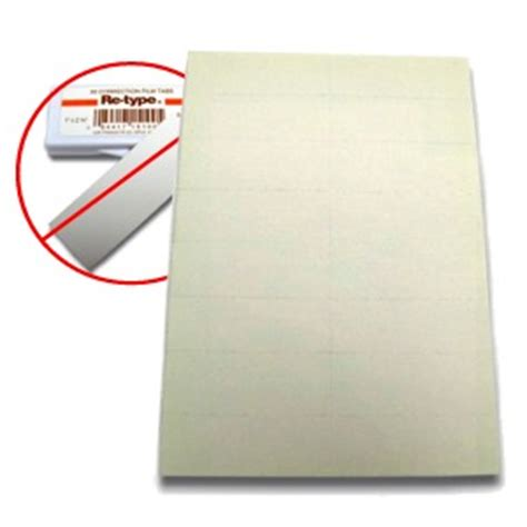Correction Type typewriter correction paper cover up tabs sheets