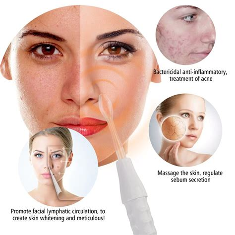 light treatment for face high frequency skin therapy machine with red probes light