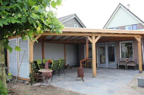 veranda zelfbouw douglas veranda met shutterscherm stange houthandel