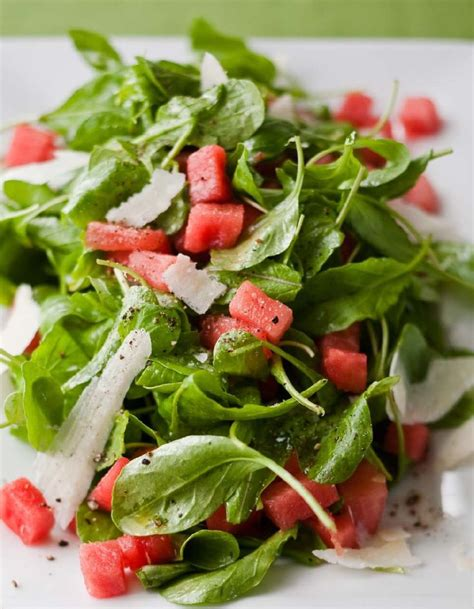 ina garten salad recipes watermelon and arugula salad from barefoot contessa how