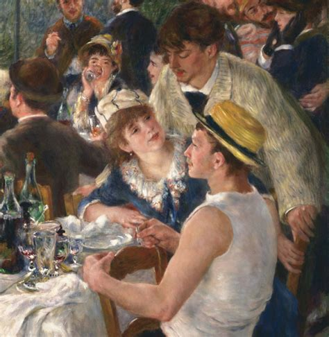 luncheon of the boating party restaurant luncheon of the boating party by pierre auguste renoir