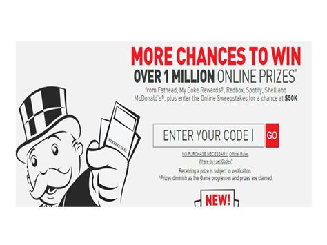 Monopoly Instant Win - mcdonald s monopoly instant win sweepstakes free items with additional promo