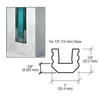 gr5ub4 crl 4 quot setting and centering blocks for 1 2 quot glass