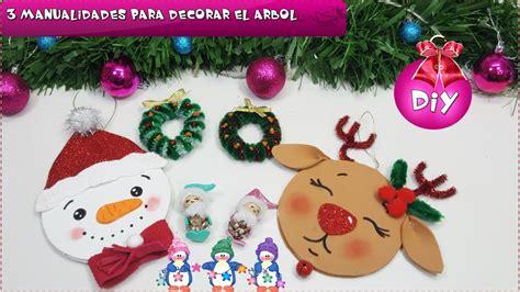 3 diy f 193 ciles para decorar el 193 rbol manualidades navidad