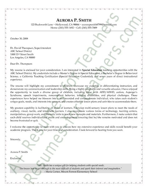 education consultant cover letter special education letter of intent sle esl resume