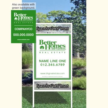 better homes and gardens real estate 230 2c 82 in signs