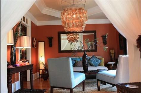 burnt orange living room walls burnt orange walls warm interior living room inspiration