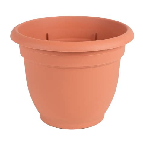 self watering planter bloem ariana 20 in terra cotta plastic self watering