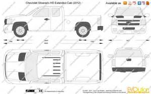 Chevrolet Silverado Dimensions Chevy Silverado Extended Cab Dimensions Autos Post