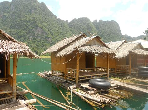 bungalow water thailand back to basics floating bungalows at khao sok national