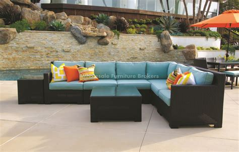 Patio Sectionals On Sale by Outdoor Wicker Sectional Sofa Pacifica Outdoor Wicker