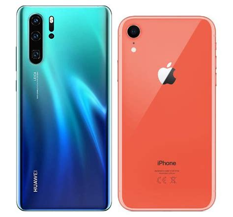 compare smartphones huawei p pro  apple iphone xr