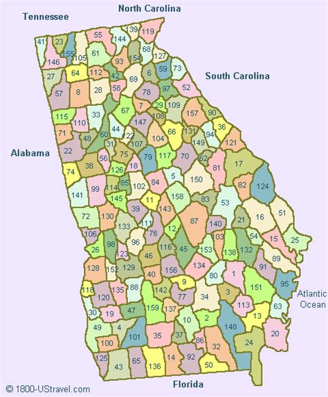 map of georgia counties map of counties plus map map of map of georgia counties 1800 ustravel us travel guides
