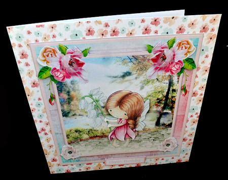 Decoupage Kits Sale - snowdrop by the river card mini kit decoupage