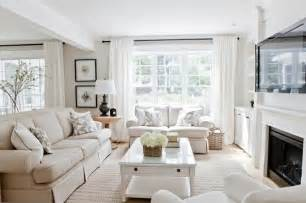 decor bright living room with light linen colored