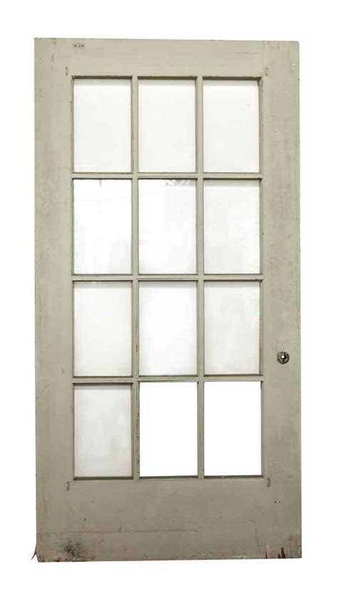 12 Glass Panel Wide White Door Olde Good Things White Interior Doors With Glass Panel