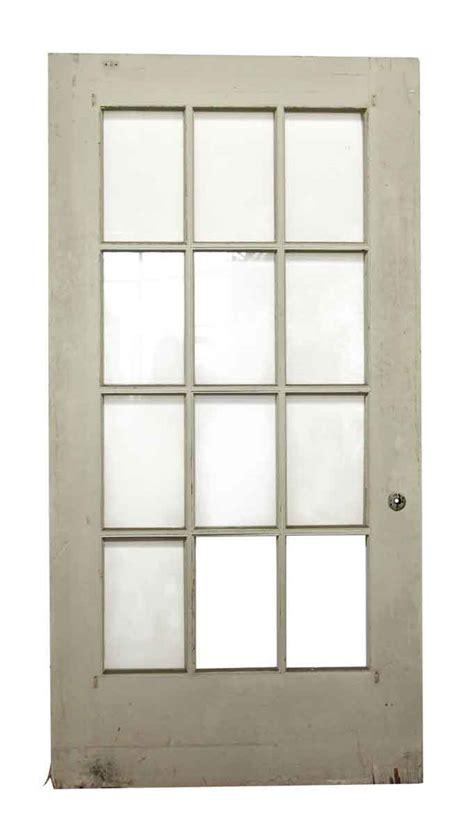 12 Glass Panel Wide White Door Olde Good Things