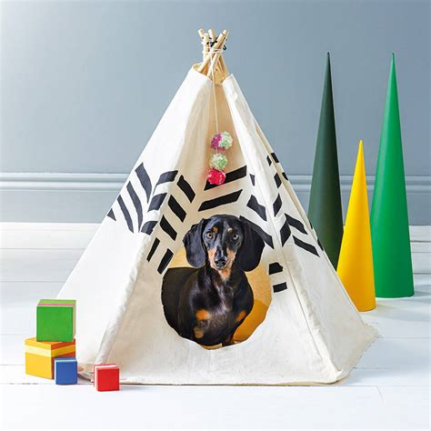 teepee for dogs striped pet tipi by pup tart handmade notonthehighstreet