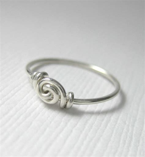 knot ring promise ring for tiny fingers ring