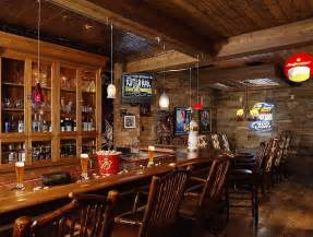 home bars room decor:  lighting to the traditional basement bar design residential systems