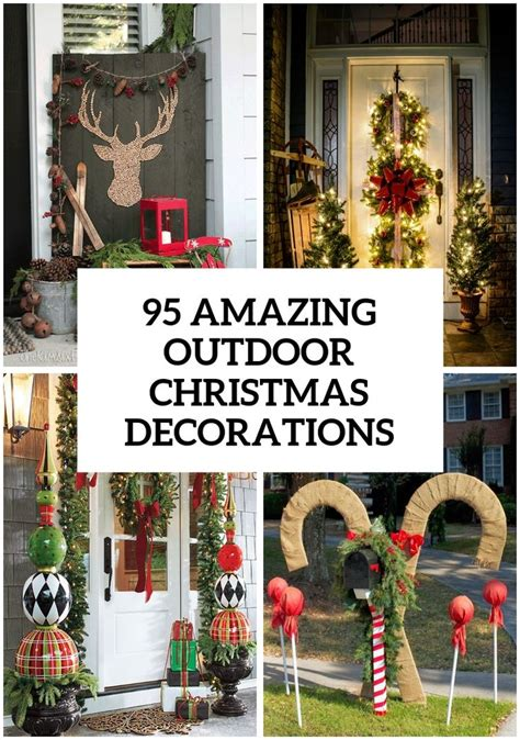 home and garden christmas decoration ideas best 25 outdoor christmas ideas on pinterest