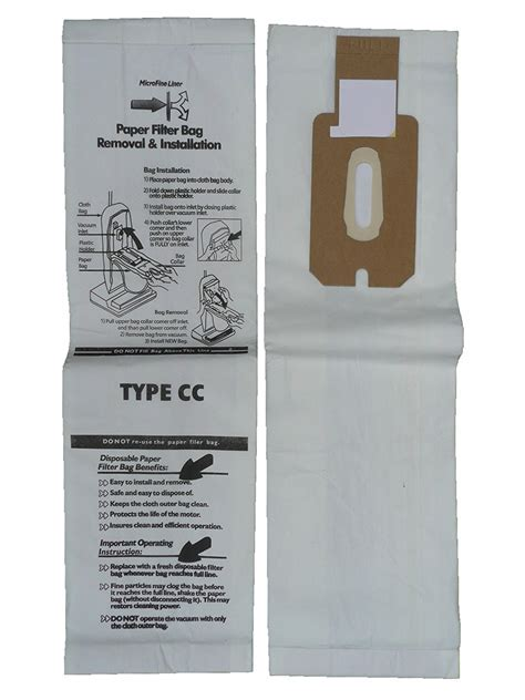 Oreck CCPK8 Type CC Upright XL Bags with Docking System