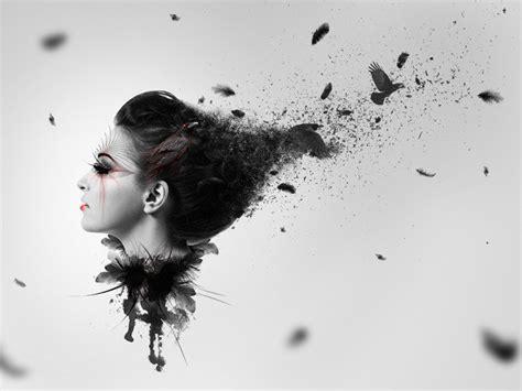 photoshop cs5 tutorial watercolor photo manipulation create a dark abstract crow photo manipulation photoshop