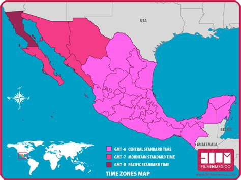 map of us and mexico time zones mexico map time zones