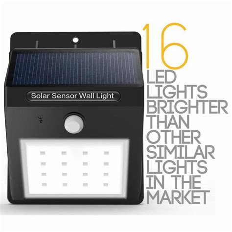 16 Led Solar Powered Motion Sensor Light Outdoor Solar Led