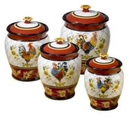 Rooster Kitchen Canister Sets Rooster Kitchen Decor