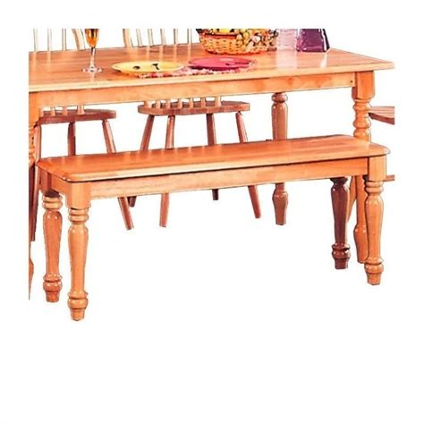 warm bench coaster damen traditional wood dining bench in warm
