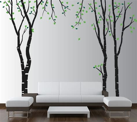 Large Wall Birch Tree Decal Forest Kids Vinyl Sticker Large Wall Decals For Nursery