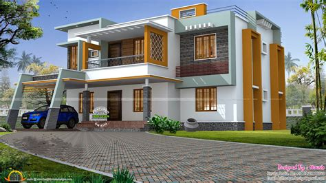 box type home in beautiful style kerala home design and box style house kerala home design and floor plans