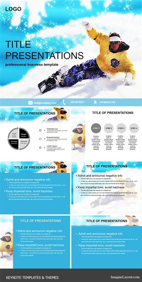 keynote theme palette guide to snowboarding keynote themes imaginelayout com