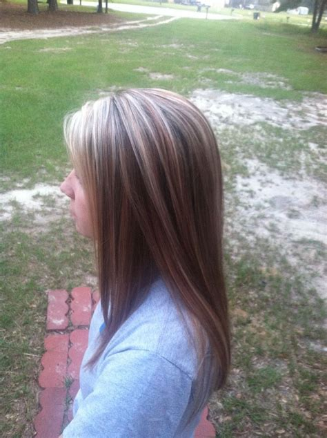 light brown hair with red highlights light brown hair with blonde highlights and red lowlights