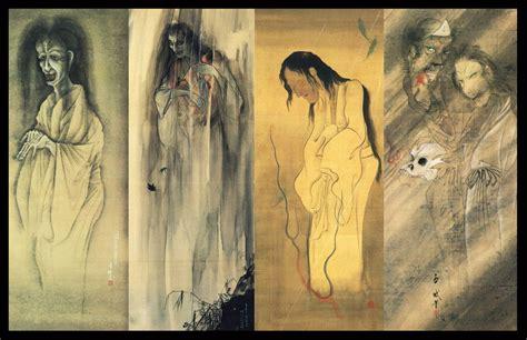 japanese yokai ghost scrolls  colinmartinpwherman