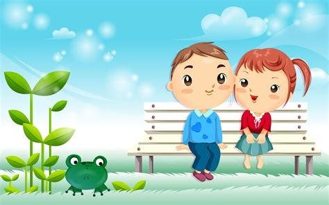 wallpaper animasi love couple love cartoon background wallpaper high definition high