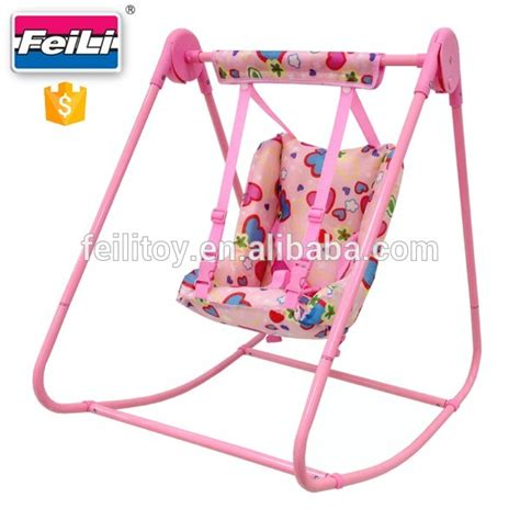 baby doll swing toy feili toys baby doll swing with pink metal tube doll swing