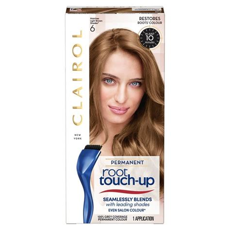 permanent colour colour capital hair color shoo 250ml blue semi permanent n easy root touch up hair dye light brown 6 from ocado