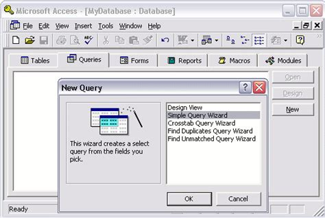 a quick tutorial on queries in microsoft access 2007 microsoft access 2003 create a query
