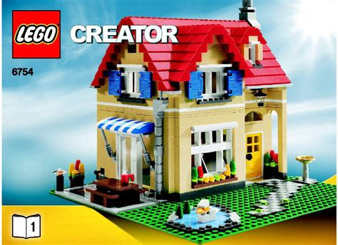 lego house sets lego family home instructions 6754 creator