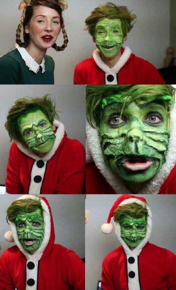 grinch makeup tutorial zoella joesugg as the grinch siblinglove zoesugg https www