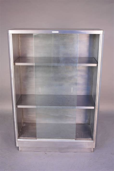 industrial glass front metal bookcase for sale at 1stdibs